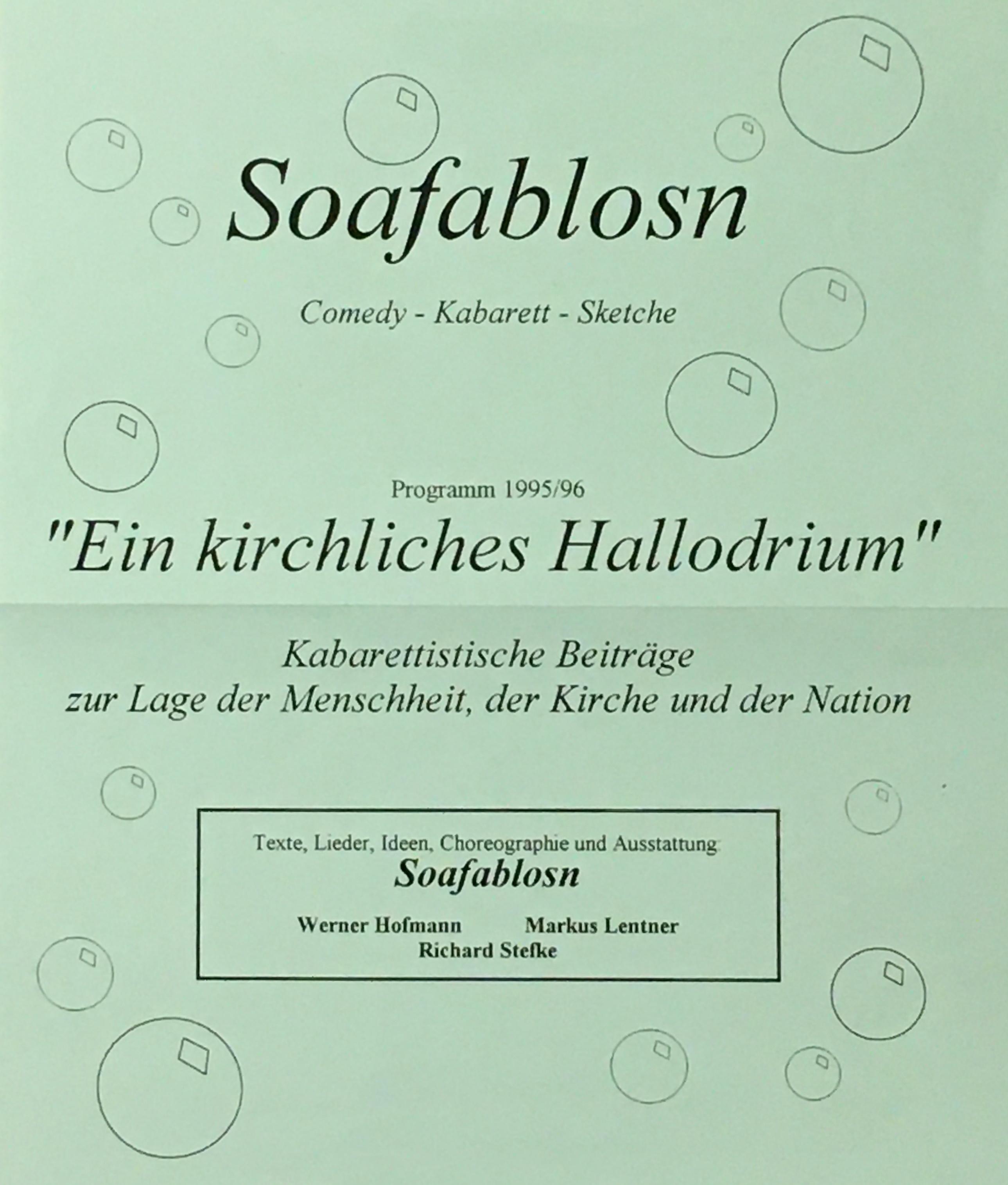 Ein kirchliches Hallodrium 1995-1996
